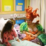 Peter Pan cast fly in to Children's Hospital