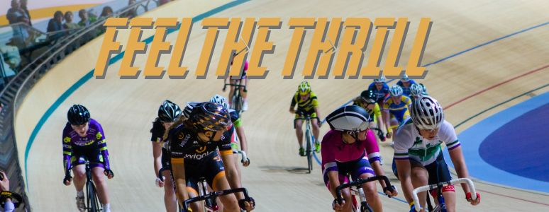 Feel the thrill with track cyclists
