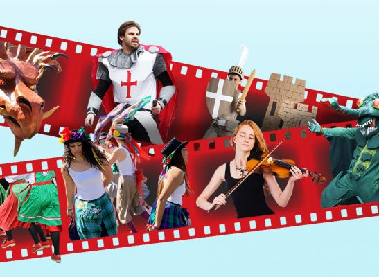 film strip of st george's day activity inc folk dancing