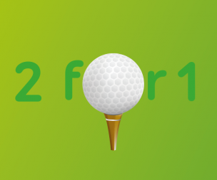 Image for link to 2 for 1 Golf for Active fitness members