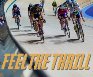 Image for link to Feel the thrill with track cycling at Derby Arena