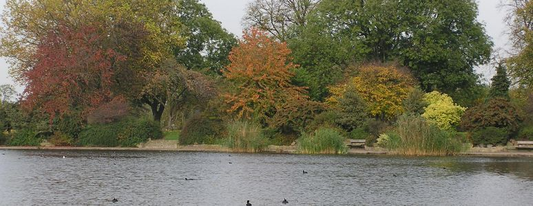 Alvaston Park in Autumn