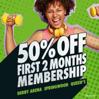 50% off Derby Active Memberships for 2 Months